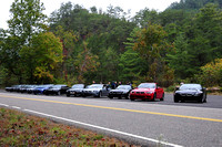 2009 10-12 TN side of Tail of the Dragon - lined up before first run