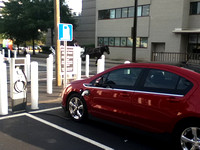 First time using one Charlotte's few public charging stations in Uptown. Much faster than 110 factory charger